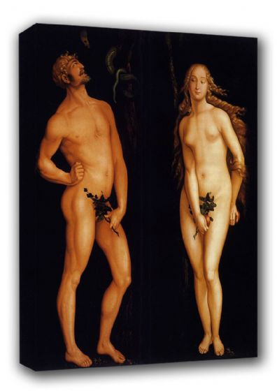 Baldung Grien, Hans: Adam and Eve. Biblical Fine Art Canvas. Sizes: A3/A2/A1 (00448)
